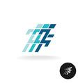 running man logo athlette symbol in corner vector image