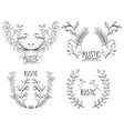 rustic set wreaths icons vector image vector image