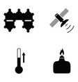 science icon set vector image vector image