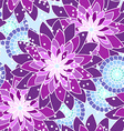 Seamless flower pattern in purple tones vector image