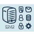 server design vector image