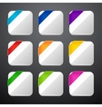 set app icons with ribbons vector image