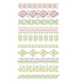 set of abstract geometric line patterns vector image vector image