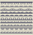 set of lace paper with floral and decorative vector image vector image