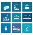 Set of Marine Cargo Icons vector image vector image