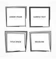 squares doodle set vector image vector image