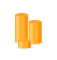 stacks gold isolated money column cash vector image vector image