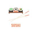 sushi japanese food sushi roll vector image