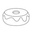 sweet donut icon vector image vector image