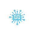 tech book logo icon design vector image