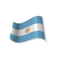 the flag of argentina vector image