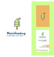 tree creative logo and business card vertical vector image