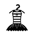 tutu ballet and necklace on the hanger costume vector image vector image