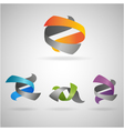 twist icons vector image vector image