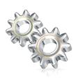 Two gears icon icon vector image vector image
