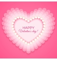 Valentines heart on pink background vector image