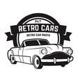 Vintage cars sale Retro car icon Car repair vector image