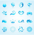 Water Drops Icons vector image vector image