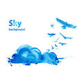 Watercolor sky background vector image vector image