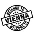 welcome to vienna black stamp vector image vector image