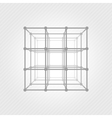 Wireframe mesh square vector image vector image