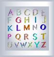 3d alphabet separated alphabet letters vector image
