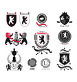 Set brand sports club student club heraldic shi vector image
