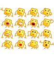 square smiles vector image