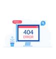 404 error page design concept vector image vector image