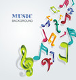 abstract background with colorful music notes vector image