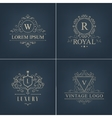 abstract logotypes icons Set Luxury Logos vector image vector image