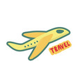 airplane travel symbol sign of tourism and vector image vector image