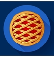 Apple Pie icon Flat designed style vector image vector image