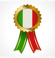 badge or medal of italy insignia vector image