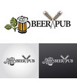 beer logo sign vector image