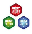 bestseller colorful label set vector image