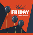 black friday system of discounts for purchase vector image vector image