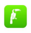 brazilian toucan icon digital green vector image