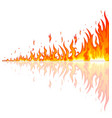 burning fire with reflection vector image