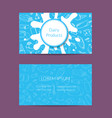 business card for dairy shop or organic vector image vector image