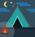 Camping in Wild Nature vector image