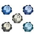 cartoon asteroids in different vector image vector image