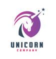 circular unicorn horse logo design vector image vector image