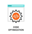 code optimization icon vector image vector image