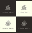 coffee shop-set vector image vector image