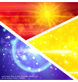 colorful light effects composition vector image