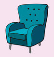 cozy emerald armchair is waiting for sitting vector image vector image