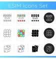 educational and gambling games icons set vector image
