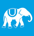 elephant icon white vector image vector image