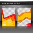 Flyer brochure template vector image